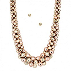 J by Jasper Conran - Designer tonal ball cluster necklace and earring set