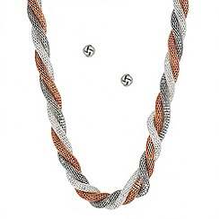 J by Jasper Conran - Designer twisted mesh necklace and earring set