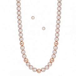J by Jasper Conran - Designer pink pearl polished bead set