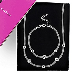 J by Jasper Conran - Designer polished ball and silver mesh necklace and bracelet set