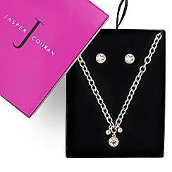 J by Jasper Conran - Great buy designer two tone crystal drop necklace and earring set