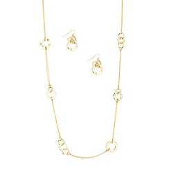 J by Jasper Conran - Designer interlinked gold hoop necklace and earring set