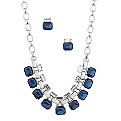 J by Jasper Conran - Designer crystal baguette and blue stone jewellery set