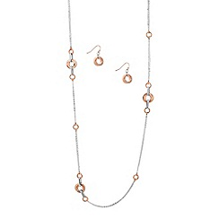 J by Jasper Conran - Designer rose gold crystal disc jewellery set