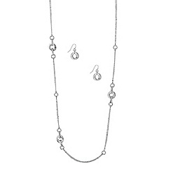 J by Jasper Conran - Designer long crystal loop necklace and earring set