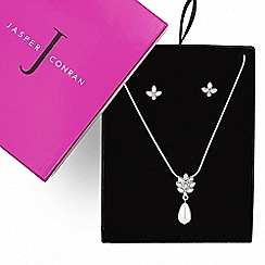 J by Jasper Conran - Designer crystal navette pearl drop jewellery set