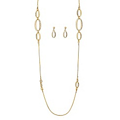 J by Jasper Conran - Designer polished and crystal oval link jewellery set