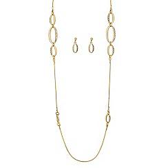 J by Jasper Conran - Designer polished and crystal oval link jewellery set
