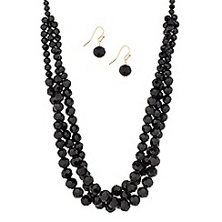 J by Jasper Conran - Designer twisted jet bead jewellery set