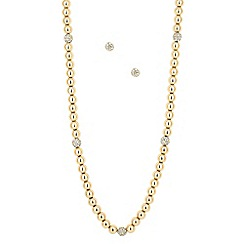 J by Jasper Conran - Designer crystal and polished gold ball jewellery set