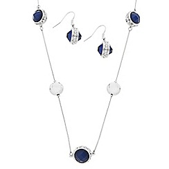 J by Jasper Conran - Designer blue stone and polished ball jewellery set