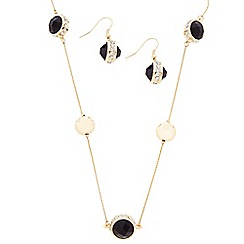 J by Jasper Conran - Designer jet stone and polished ball jewellery set