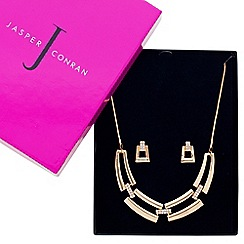 J by Jasper Conran - Designer great value crystal link gold panel jewellery set