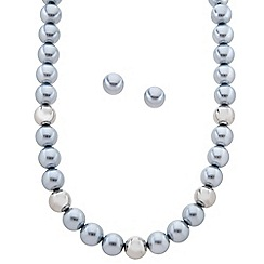 J by Jasper Conran - Designer grey pearl and polished ball jewellery set