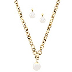 J by Jasper Conran - Designer pearl and crystal encased chain jewellery set