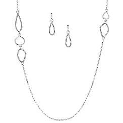 J by Jasper Conran - Designer crystal embellished link jewellery set