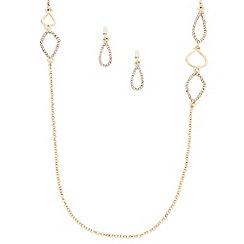 J by Jasper Conran - Designer gold crystal embellished link jewellery set