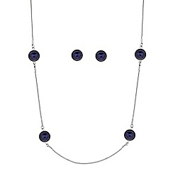 J by Jasper Conran - Designer blue pearl rope necklace and matching earring set