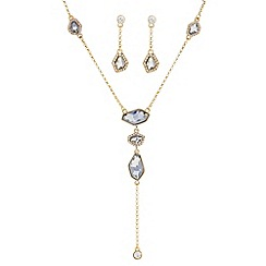 J by Jasper Conran - Designer gold crystal y necklace and matching earring set