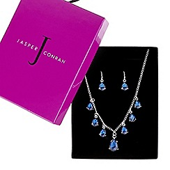 J by Jasper Conran - Designer blue crystal peardrop necklace and earring set