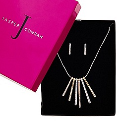 J by Jasper Conran - Designer multi tone pave stick necklace and matching earring set