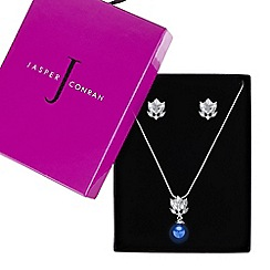 J by Jasper Conran - Designer blue pearl drop crystal necklace and earring set