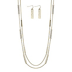 J by Jasper Conran - Designer cut out multi row jewellery set