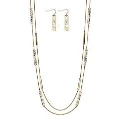 J by Jasper Conran - Designer cut out multi row jewellery set