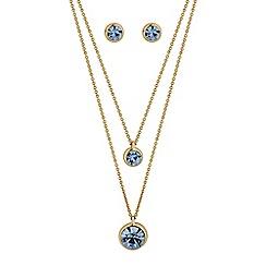 J by Jasper Conran - Designer blue double row jewellery set