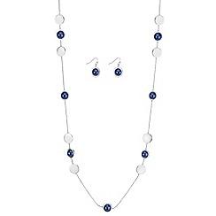 J by Jasper Conran - Designer blue pearl jewellery set