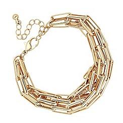 J by Jasper Conran - Designer multi link gold chain bracelet