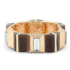 J by Jasper Conran - Designer online exclusive 3-d panelled stretch bracelet