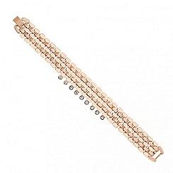 J by Jasper Conran - Designer rose gold crystal stone link bracelet