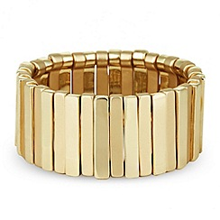 J by Jasper Conran - Designer polished gold stick stretch bracelet