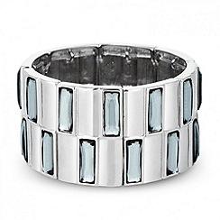 J by Jasper Conran - Designer baguette stone stretch bracelet