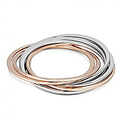 J by Jasper Conran - Designer linked mixed metal bangle set