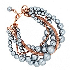 J by Jasper Conran - Designer pearl and chain twist bracelet