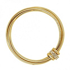J by Jasper Conran - Designer crystal disc triple layered bangle