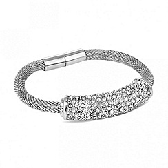 J by Jasper Conran - Designer crystal mesh magnetic bracelet