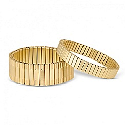 J by Jasper Conran - Designer set of two panelled stretch bracelets