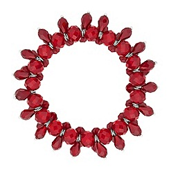 J by Jasper Conran - Designer red facet bead stretch bracelet