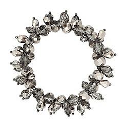 J by Jasper Conran - Designer hematite facet bead stretch bracelet