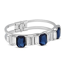 J by Jasper Conran - Designer blue crystal baguette stone bangle