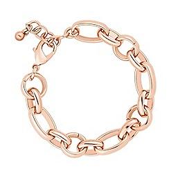 J by Jasper Conran - Designer rose gold chain link bracelet