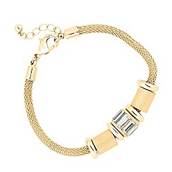 J by Jasper Conran - Designer baguette and textured disc bracelet