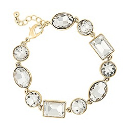 J by Jasper Conran - Designer round and square crystal chain bracelet