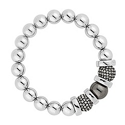 J by Jasper Conran - Designer hematite ball and polished disc stretch bracelet