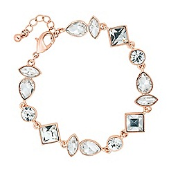 J by Jasper Conran - Designer rose gold mixed crystal link bracelet