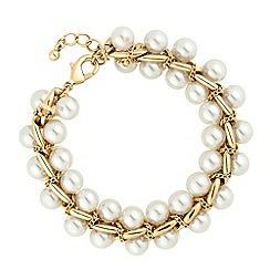 J by Jasper Conran - Designer double pearl twisted chain bracelet