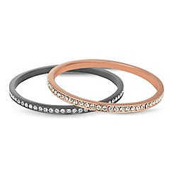 J by Jasper Conran - Designer set of two crystal encased bangles